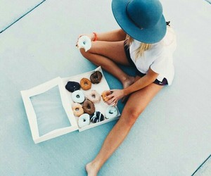 donuts, food, and my love image