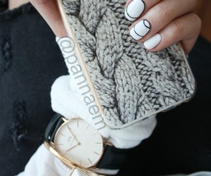 case, nails, and fashion image