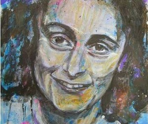 acrylic, anne frank, and holocaust image