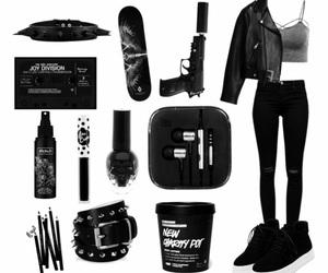 alternative, black, and edgy image