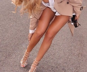 fashion, high heels, and woman image