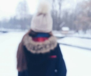 blur, girl, and winter image