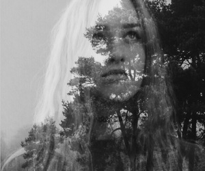 doubleexposure, landscape, and photography image