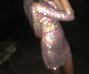 dress, glitter, and dark image