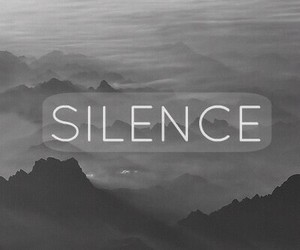 silence and black and white image