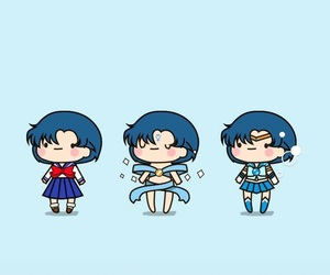 sailor mercury, sailor moon, and wallpaper image