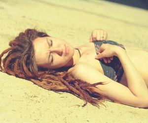 brunette, dread, and dreadlocks image