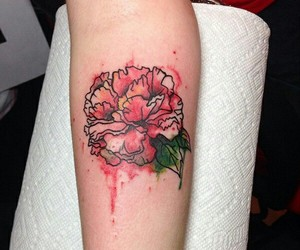 carnation, colored, and tattoo image