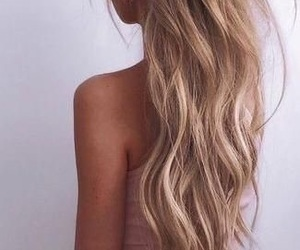 blond, curly, and hair image
