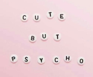 cute, Psycho, and pink image
