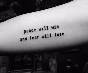 tattoo, black and white, and peace image