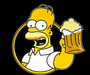 beer, the simpsons, and cartoon image