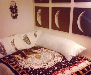 moon, room, and bedroom image