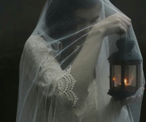 bride, candle, and white veil image