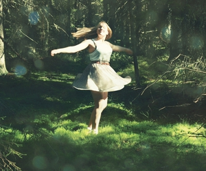 beautiful, forest, and girl image