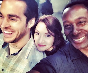 Supergirl, chyler leigh, and chris wood image