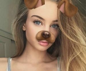 eyes, girl, and snapchat image