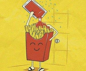 funny, ketchup, and food image