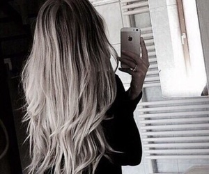gray, hair, and love image
