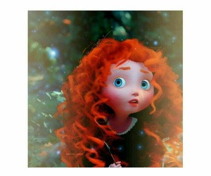 disney, brave, and merida image