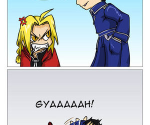 edward elric, roy mustang, and fullmetal alchemist image