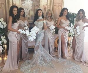wedding, bridesmaid, and bride image