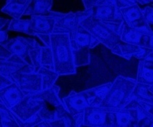 blue, glow, and money image