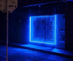 blue, glow, and neon image