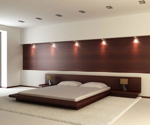 bedroom, furniture, and floating bed image