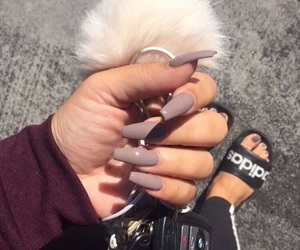 nails, adidas, and beauty image