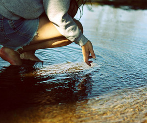 girl, water, and photography image