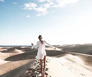 girl, summer, and desert image
