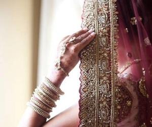 bride, wedding, and india image