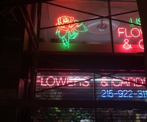 neon, rose, and aesthetic image