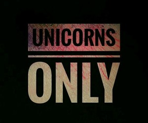 only, unicorns, and love image