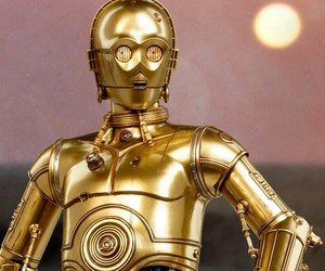 C-3PO, gold, and droid image