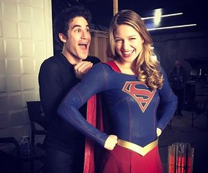 Supergirl, darren criss, and melissa benoist image
