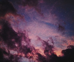 clouds, stars, and violet image