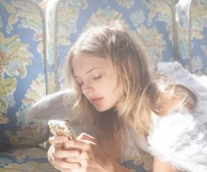 girl, aesthetic, and angel image