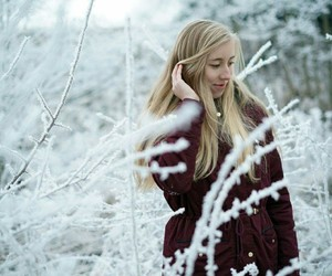 blond, girl, and winter image
