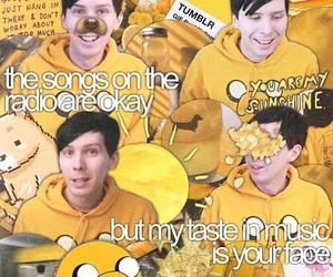 yellow, amazingphil, and dan and phil image