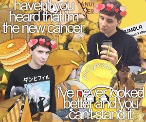 yellow, dan and phil, and danisnotonfire image