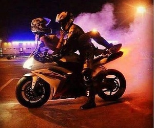 love, couple, and motorcycle image
