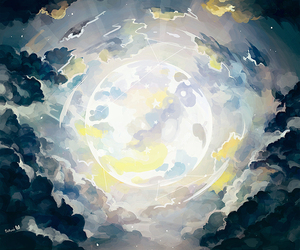 anime, beautiful, and clouds image