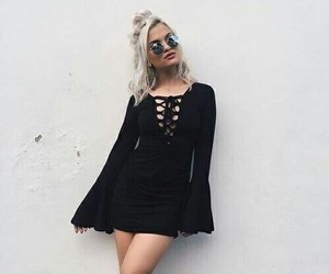 fashion, black, and dress image