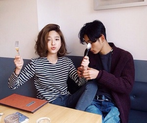 korean, couple, and ulzzang image