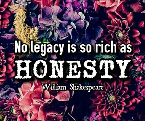 honesty, quotes, and william shakespear image