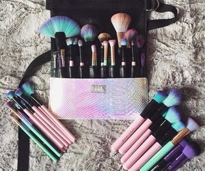 Brushes and beauty image