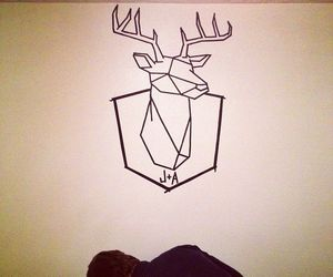 deer, diy inspiration, and deer head image