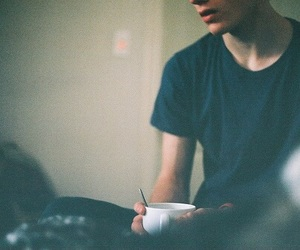 boy, coffee, and vintage image